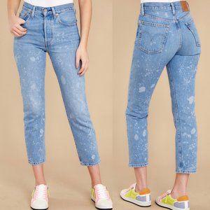 Levi's 501 Original Cropped Straight Blue Jeans